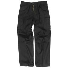 Army M65 Trousers Tactical Combats Uniform Work Cargo Mens Pants Security Black