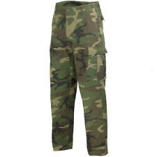 Mens Ranger Combat US Army Trousers Work Wear Casual Pants Woodland Camo S-3XL