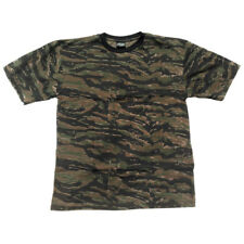 US Military Mens T-Shirt Army Combat Top Cotton Tiger Stripe Vietnam Camo S-3XL