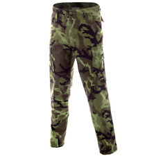 BDU Ripstop Mens Combat Trousers Work Wear US Army Cargo Czech Woodland W27-W47