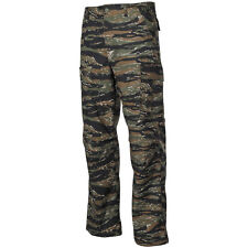 BDU Ripstop Mens Military Pants US Army Combats Cargo Trousers Tiger Stripe Camo