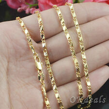 Quality SALE Exquisite Gold Plated Filled Golden Necklace Chain 16-30'' Gift