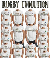 Rugby Evolution Mens T-Shirt Choose Your Team Perfect For World Cup & 6 Nations