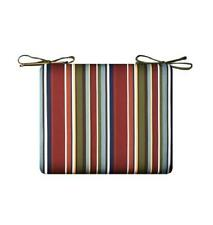 RED BLUE GREEN MULTI STRIPE Outdoor PATIO SEAT CHAIR CUSHION PAD - 5 SIZES