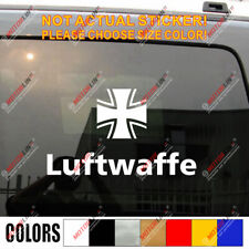 Luftwaffe WWII German Air Force Germany Iron Cross Army Car Decal Bumper Sticker