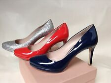 MIU MIU PRADA PLATFORM WOMENS PUMPS PATENT LEATHER HIGHT HEELS SHOES GLITTER NEW