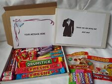Retro Sweets Gift Box BEST MAN FREE personalisation  (45 sweets)