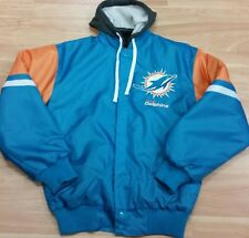 Miami Dolphins Official NFL nylon sublimation detachable hood jacket