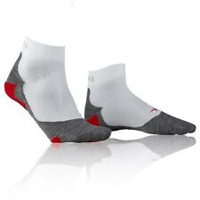 Falke RU5 Womens Lightweight White Grey Red Sports Anklet Running Socks