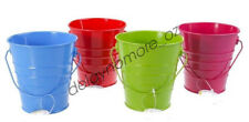 Birthday Wedding Party 1x Colour Metal Tin Bucket Lolly Treat Candy Buffet Table