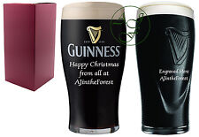 Personalised Engraved 1 Pint Guinness Branded Beer Glass Christmas Xmas Gift