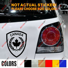 Canada Canadian Army Nationality Car Decal Sticker