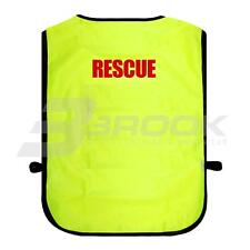 PRINTED RESCUE HIGH VISIBILITY TABARD HI VIS VIZ SAFETY WAISTCOAT