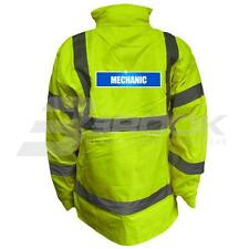 REFLECTIVE HIGH VISIBILITY MECHANIC PARKA JACKET HI VIS VIZ SAFETY