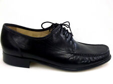 Grenson Gents Black Leather Open Laced Cap Toe Derby Blutcher Shoe G Fit
