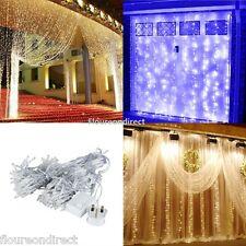 3M x 3M 300LED Outdoor Party Wedding Christmas String Fairy Curtain Lights UK