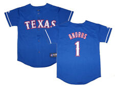 NWT Majestic Elvis Andrus Texas Rangers Youth Replica Alternate 2 Jersey