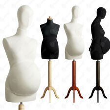 SIZE 8 10 PREGNANT FEMALE TAILORS MANNEQUIN HEAD MATERNITY BELLY DUMMY S1