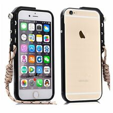 Metal Mechanical Arm Trigger Bumper Clear Acrylic Back Case for iPhone 6 6s Plus