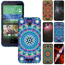 For HTC Desire 510 512 Various Design Protector SNAP ON Hard Skin Case Cover