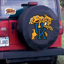 Kentucky Tire Cover with Wildcats Logo on Black Vinyl