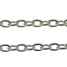 Steel Cable Trace Chain Jewellery Making - Silver Plated 3 Sizes x 1 Metre