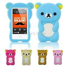 3D Cartoon Teddy Bear Silicone Rubber Case Cover For Apple iPod Nano 7 7th Gen