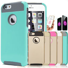 Commuter Hybrid Shockproof Hard Rugged Heavy Duty Case Cover For iPhone 5 5S