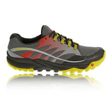 Merrell All Out Charge Mens Yellow Grey Cushioned Trail Running Shoes Trainers