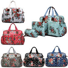 4pcs Mummy Baby Nappy Diaper Changing Maternity Bag Set Wipe Clean Flower