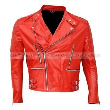 Men's New BRANDO Vintage Motorcycle Classic Bikers Leather Jacket in Three Color