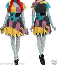 The Nightmare Before Christmas Sally Rag Doll Cosplay Costume Dress Free Ship