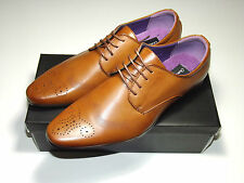 Mens Tan Brown Stylish Smart Formal Lace Up Office Dress Shoes Sizes UK 7-11