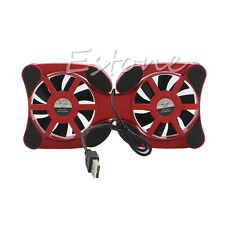 """USB Cooling Fan Mini Octopus Cooler Pad Double Fans for 7""""-15"""" Notebook Laptop"""