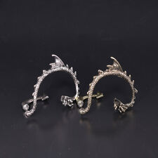 2Pcs Newest Dragon Snake Ear Cuff Clip Wrap Lure Stud Earring Gothic Punk Gifts