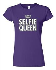 Junior Selfie Queen Crown Selfy Pic Photo Camera Funny Humor DT T-Shirt Tee
