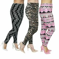 Ladies patterned leggings - ALSO available in plus sizes