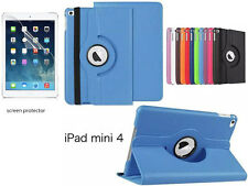 For iPad Mini 4  Screen Protector/ Rotating PU Leather Case Cover