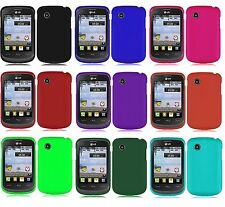 Screen Protector + Hard Case Phone Cover Accessory for TRACFONE LG 306G LG306G