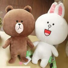 "15""Japan Line Friends Brown Bear White Cony Rabbit Stuffed Plush Doll Toy I"