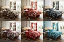 DECOR CHECK Duvet Quilt Cover Pillow Case or Complete Set With Fitted Bed Sheet