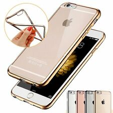 Thin Clear Soft Silicone TPU Rubber Plating Case Skin For Apple iPhone 6 6s Plus
