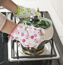 Heat Resistant Silicone Glove Oven Pot Holder Baking BBQ Cooking Mitts Kitchen