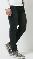 New Mens Vintage Charcoal Dark Oil Washed Denim Jeans Spandex Pants Size 30~46