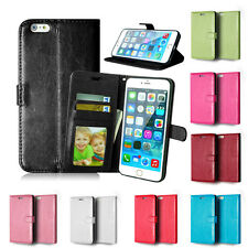 Flip Leather Wallet Photo Card Holder Stand Case Cover For iPhone 4 5S 6 6S Plus
