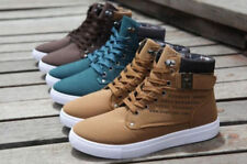 2016 New Men Shoes Fashion Leather Shoe Casual High Top Shoes Canvas Sneakers