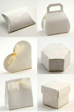 Luxury DIY Wedding Party Favour Gift Sweet Boxes - Fiorami Antique White Range