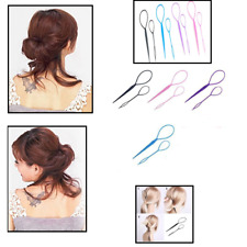 Blue Topsy Tail Hair Braid Ponytail Maker Styling Tool Hair Accessories 2pcs