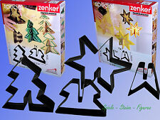 Sz. 3D Cookie cutter 15cm, Fackelmann Christmas Star Tree Cookie Cutters