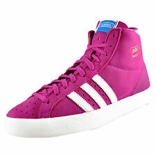 Adidas Originals Womens Girls Basket Profi Hi Top Trainers Pink AUTHENTIC